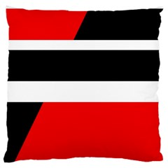 Red, white and black abstraction Large Cushion Case (One Side)