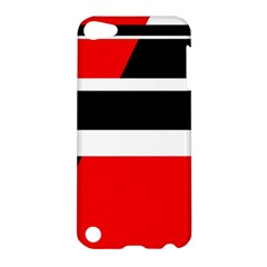 Red, white and black abstraction Apple iPod Touch 5 Hardshell Case