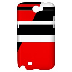 Red, white and black abstraction Samsung Galaxy Note 2 Hardshell Case