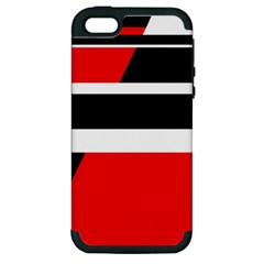 Red, white and black abstraction Apple iPhone 5 Hardshell Case (PC+Silicone)