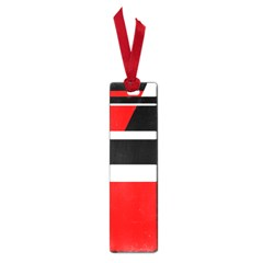 Red, white and black abstraction Small Book Marks