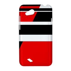 Red, white and black abstraction HTC Desire VC (T328D) Hardshell Case