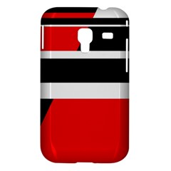 Red, white and black abstraction Samsung Galaxy Ace Plus S7500 Hardshell Case