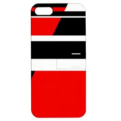 Red, white and black abstraction Apple iPhone 5 Hardshell Case with Stand