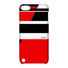 Red, white and black abstraction Apple iPod Touch 5 Hardshell Case with Stand