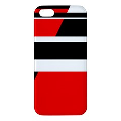 Red, white and black abstraction Apple iPhone 5 Premium Hardshell Case