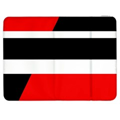 Red, white and black abstraction Samsung Galaxy Tab 7  P1000 Flip Case
