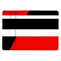 Red, white and black abstraction Samsung Galaxy Tab 10.1  P7500 Flip Case