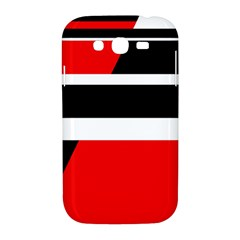Red, white and black abstraction Samsung Galaxy Grand DUOS I9082 Hardshell Case