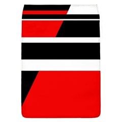 Red, white and black abstraction Flap Covers (L)