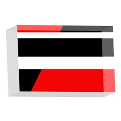 Red, white and black abstraction 4 x 6  Acrylic Photo Blocks