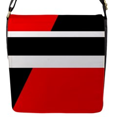 Red, white and black abstraction Flap Messenger Bag (S)