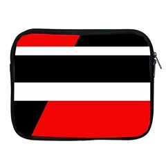 Red, white and black abstraction Apple iPad 2/3/4 Zipper Cases