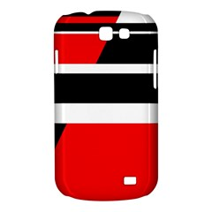 Red, white and black abstraction Samsung Galaxy Express I8730 Hardshell Case