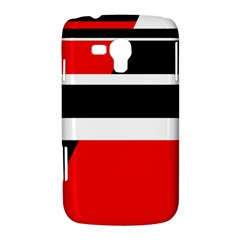 Red, white and black abstraction Samsung Galaxy Duos I8262 Hardshell Case