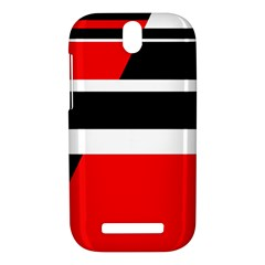 Red, white and black abstraction HTC One SV Hardshell Case