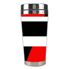 Red, white and black abstraction Stainless Steel Travel Tumblers