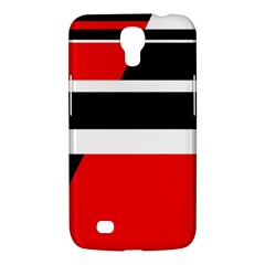 Red, white and black abstraction Samsung Galaxy Mega 6.3  I9200 Hardshell Case