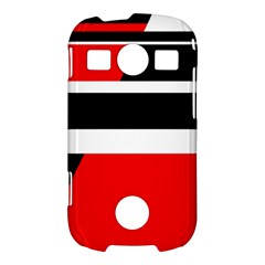 Red, white and black abstraction Samsung Galaxy S7710 Xcover 2 Hardshell Case