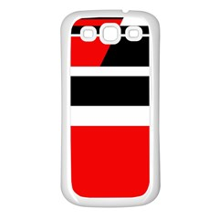 Red, white and black abstraction Samsung Galaxy S3 Back Case (White)