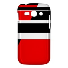 Red, white and black abstraction Samsung Galaxy Ace 3 S7272 Hardshell Case