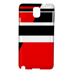 Red, white and black abstraction Samsung Galaxy Note 3 N9005 Hardshell Case