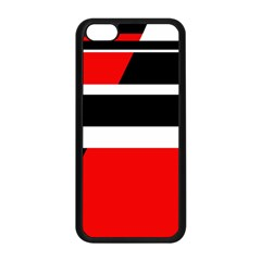 Red, white and black abstraction Apple iPhone 5C Seamless Case (Black)