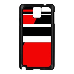 Red, white and black abstraction Samsung Galaxy Note 3 N9005 Case (Black)