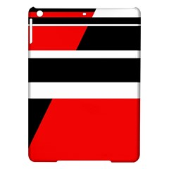 Red, white and black abstraction iPad Air Hardshell Cases