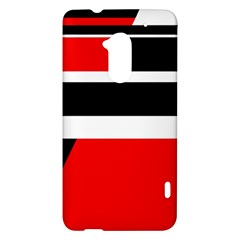 Red, white and black abstraction HTC One Max (T6) Hardshell Case