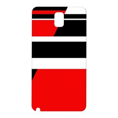 Red, white and black abstraction Samsung Galaxy Note 3 N9005 Hardshell Back Case