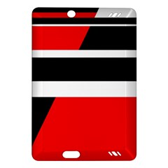 Red, white and black abstraction Amazon Kindle Fire HD (2013) Hardshell Case