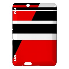 Red, white and black abstraction Kindle Fire HDX Hardshell Case