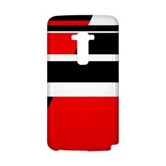 Red, white and black abstraction LG G Flex