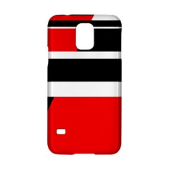 Red, white and black abstraction Samsung Galaxy S5 Hardshell Case