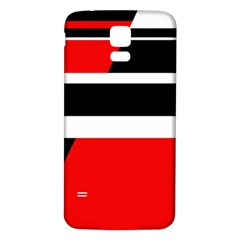 Red, white and black abstraction Samsung Galaxy S5 Back Case (White)