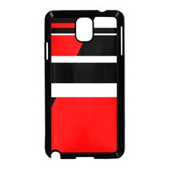 Red, white and black abstraction Samsung Galaxy Note 3 Neo Hardshell Case (Black)