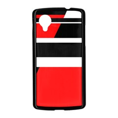 Red, white and black abstraction Nexus 5 Case (Black)