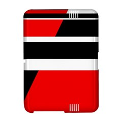 Red, white and black abstraction Amazon Kindle Fire (2012) Hardshell Case