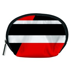 Red, white and black abstraction Accessory Pouches (Medium)