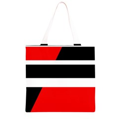 Red, white and black abstraction Grocery Light Tote Bag