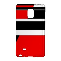 Red, white and black abstraction Galaxy Note Edge