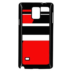 Red, white and black abstraction Samsung Galaxy Note 4 Case (Black)