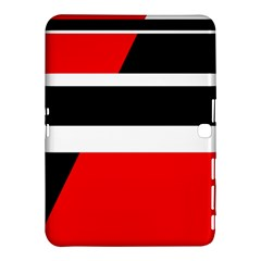 Red, white and black abstraction Samsung Galaxy Tab 4 (10.1 ) Hardshell Case