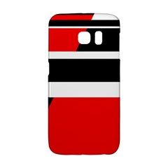 Red, white and black abstraction Galaxy S6 Edge