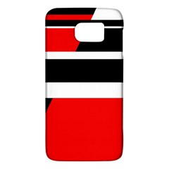 Red, white and black abstraction Galaxy S6