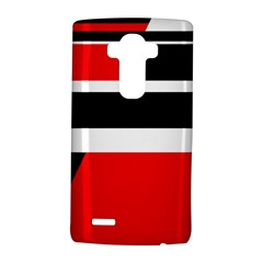 Red, white and black abstraction LG G4 Hardshell Case