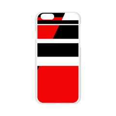 Red, white and black abstraction Apple Seamless iPhone 6/6S Case (Transparent)