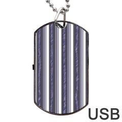 Elegant lines Dog Tag USB Flash (Two Sides)