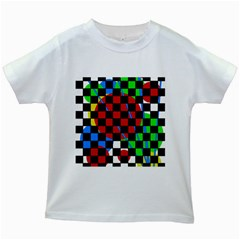 colorful abstraction Kids White T-Shirts